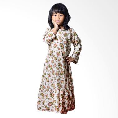 Mukena Dinda Malika Vintage Gamis Baju Muslim Anak - Floral Print