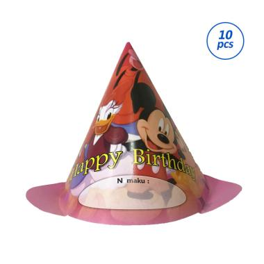 Johnboss Mickey Mouse Topi Koboi Ulang Tahun [10 pcs]