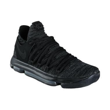NIKE Men Basketball Zoom KD 10 Sepatu Basket Pria - Black [897815-004]