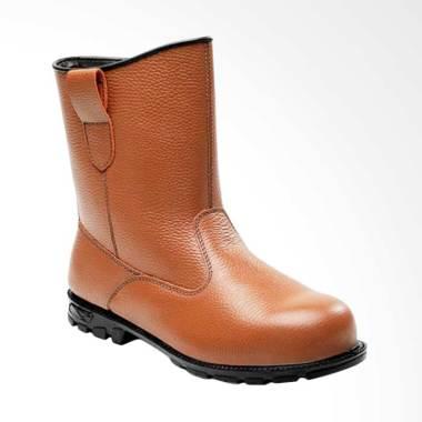 Cheetah Safety Sepatu Boot Pria - Brown [2288 C]