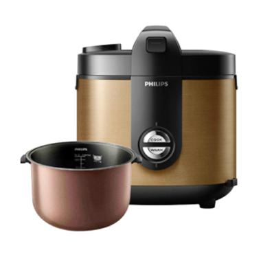PHILIPS Rice Cooker Stainless 2 Liter HD3132 - Gold