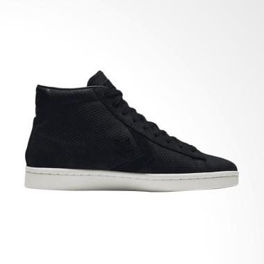 Converse Men's Pro Leather 76 Mid V ... tu Pria - Black [155647C]