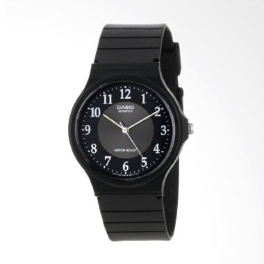 CASIO MQ24-1B3LDF Rubber Jam Tangan Unisex - Black