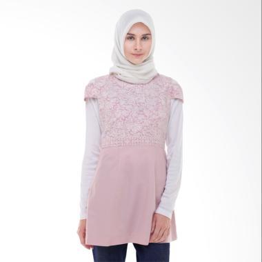 Arya Putri Batik Gowri ATM-014-WP Atasan Muslim Wanita - Pink