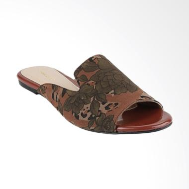 Marelli IP 713 Flat Slip on Sandal Wanita - Brown