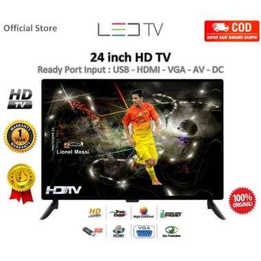 harga BAYAR DITEMPAT - LED TV 24 inch HD Televisi Support input USB HDMI VGA AV Garansi 1 Tahun Blibli.com