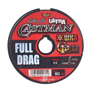 Senar PE YGK Galis Ultra Castman Full Drag Wx8 100M Size 5