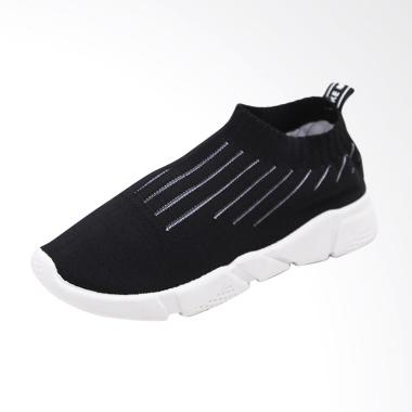 Nana Blanche Alessia Sock Shoes Kas ... kers Wanita - Black White