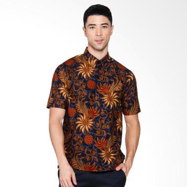 Adiwangsa Batik Modern Slim Fit Kemeja Pria - Coklat [046]