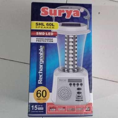 harga Lampu emergensi Surya SHL 60L radio charger power bank surya Blibli.com