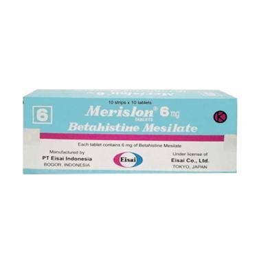 Merislon Tablet Obat Kesehatan [6 Mg/ 10 tablet-strip]