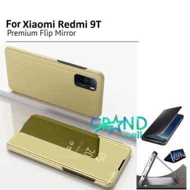 harga Casing hp FLIP COVER FOR XIAOMI REDMI 9T CASE PELINDUNG hp FLIP CASE CLEAR VIEW STANDING MIRROR CASING HANDPHONE XIAOMI REDMI 9T gold Blibli.com