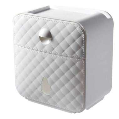 harga Jual ONEUP Kotak Tisu Storage Toilet Paper Dispenser Double Layer - E1502 Diskon Blibli.com