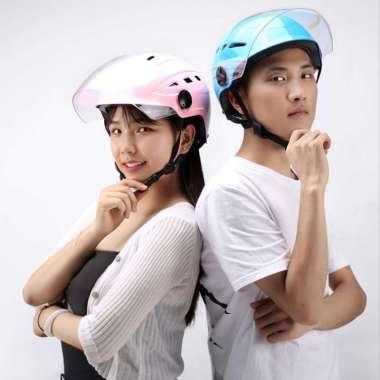 harga Helm Motor Dewasa / Helm Sepeda Motor Murah / Helm Aksesoris Motor / Helm Motor Import Pria Wanita hitam Blibli.com