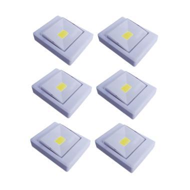 Yangunik KL1702 Stick Touch Lamp LE ... pu Tempel - Putih [6 pcs]