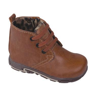 Syaqinah 081 Sepatu Boots Anak Laki-laki - Coklat