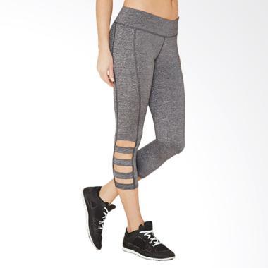 Forever 21 3-Ladder Black Capri Leg ... Wanita - Grey [08F210011]