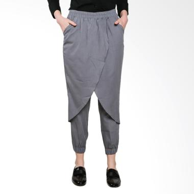 Jo & Nic Zaskia Front Layer Celana Jogger Wanita - Light Grey