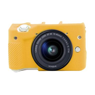 Godric Silicone Case for Canon EOS M3 Mirrorless - Kuning