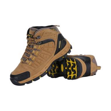 Snta Hiking Sepatu Gunung Pria - Brown Yellow [483]