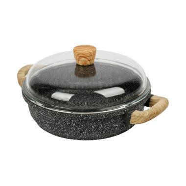 DEBELLIN Shallow Casserole Peralatan Memasak - Greystone [28 cm]