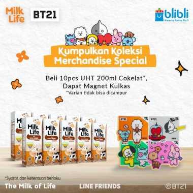 harga MilkLife Coklat – UHT Teens Tetra Slim Leaf [200 mL/10 pcs] + Free Magnet Kulkas BT21 Blibli.com