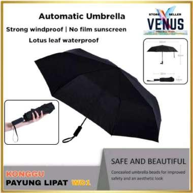 harga Konggu Automatic Umbrella Selfopening WD1 - Payung Lipat Otomatis - Hitam (Kode 007) multicolor Blibli.com