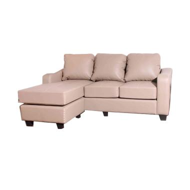 Creova Delany Sofa L - Light Choco