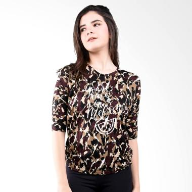 LEMONE KAE100101 T-shirt Baju Wanita - Coklat
