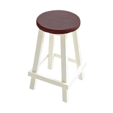 Livien Furniture Kursi Bulat French Country Bar Stools