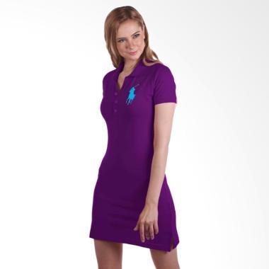 POLO RALPH LAUREN Paloma Mesh Dress Ladies - Purple - YA2802E05GY