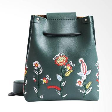 Lansdeal Women Retro Floral Sling Bag Tas Selempang Wanita - Green