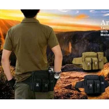 harga Jual Tas Pinggang Tactical Army Dengan Tempat Botol - Hitam Loreng Diskon Blibli.com