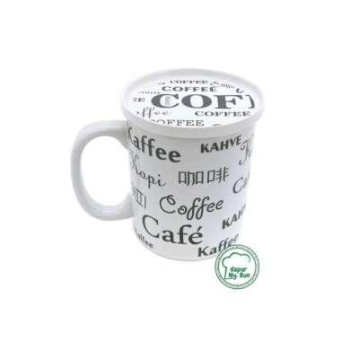 harga Terlaris Cangkir  Tutup Full Print Coffee  Mug Teh  Gelas Kopi - Putih Limited Blibli.com