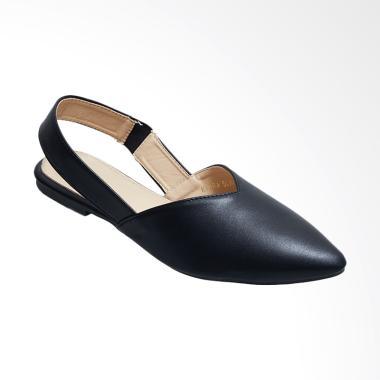Octav 0008 Kiara Slingback Flats Sepatu Wanita Black