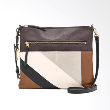 Fossil ZB 7422558 Fiona large Crossbody Tas Wanita - Neutral Stripe