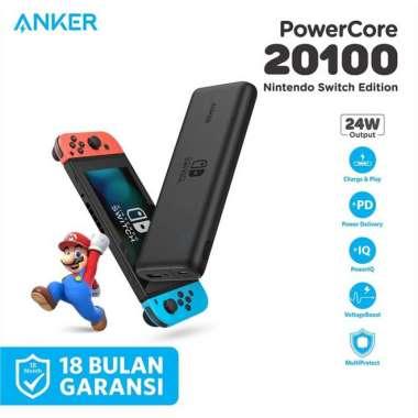 harga Dijual PowerBank Anker PowerCore Nintendo Switch PD 20100mAh Black - A1275 Limited Blibli.com
