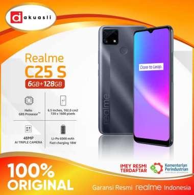 Realme C25S 4 128 4/128 GB RAM 4 ROM 128 4GB 128GB Smartphone Android 11 Garansi Resmi Grey