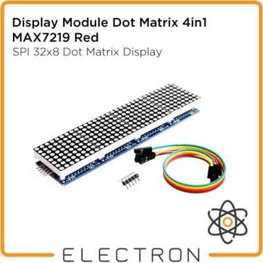 harga Unik Display Module Dot Matrix 4in1 MAX7219 Red LED 32x8 Running Text 5p LH Murah Blibli.com