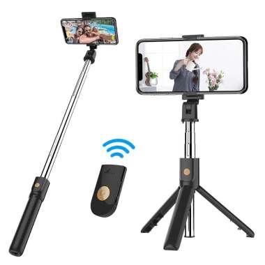 harga Zigzag Official 2 in 1 Tongsis Tripod Meja Tongkat Selfie Wireless dgn Remot, jenis YY0059-1 Blibli.com
