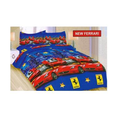 Bonita Motif New Ferrari Set Sprei - Biru