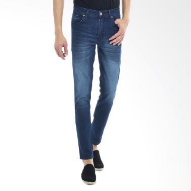 2Nd RED Slim Fit Premium Celana Jeans Pria - Biru Dongker [133258]