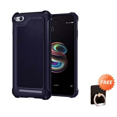 competitive price e0666 27668 Spigen Rugged Capsule with Carbon Fiber Textures Softcase Casing for Xiaomi  Redmi 5A - Dark Blue + Free Holder Ring Stand HP Random