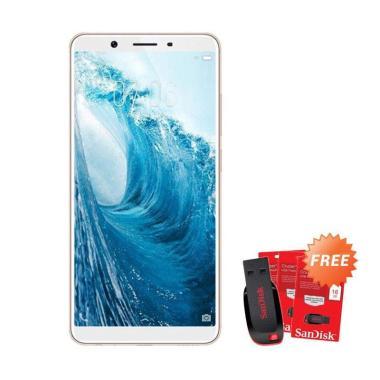 harga VIVO Y71 Smartphone - Gold [16GB/ 2GB] + Free Flashdisk SanDisk 16 GB Blibli.com
