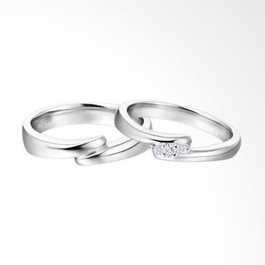 Tiaria Connected Love Ring Perhiasan Emas Cincin Pernikahan [9K]