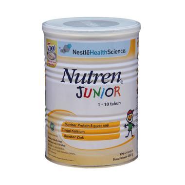 Nestle Nutren Junior Prebio Susu Bubuk Anak - Vanila [Kaleng/ 400 g]