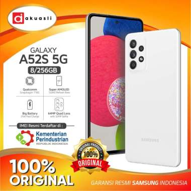 harga Samsung Galaxy A52s 5G 8/256 GB RAM 8 ROM 256GB Original Handphone Smartphone Android GaransI Resmi White Blibli.com