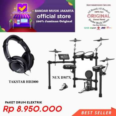 harga NUX DM7X + Headphone Takstar HD2000 Multicolour Blibli.com