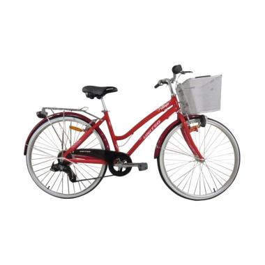 United Pattaya City Bike Sepeda CTB - Red [26 Inch]