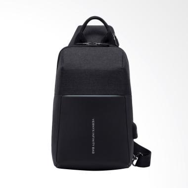 VERNYX Men's Anti Theft Sling Bag Infinity Bag Tas Pria - Hitam